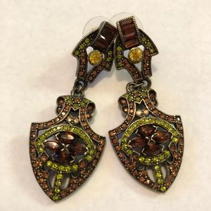 Heidi Daus Earrings Art Deco Swarovski Crystals